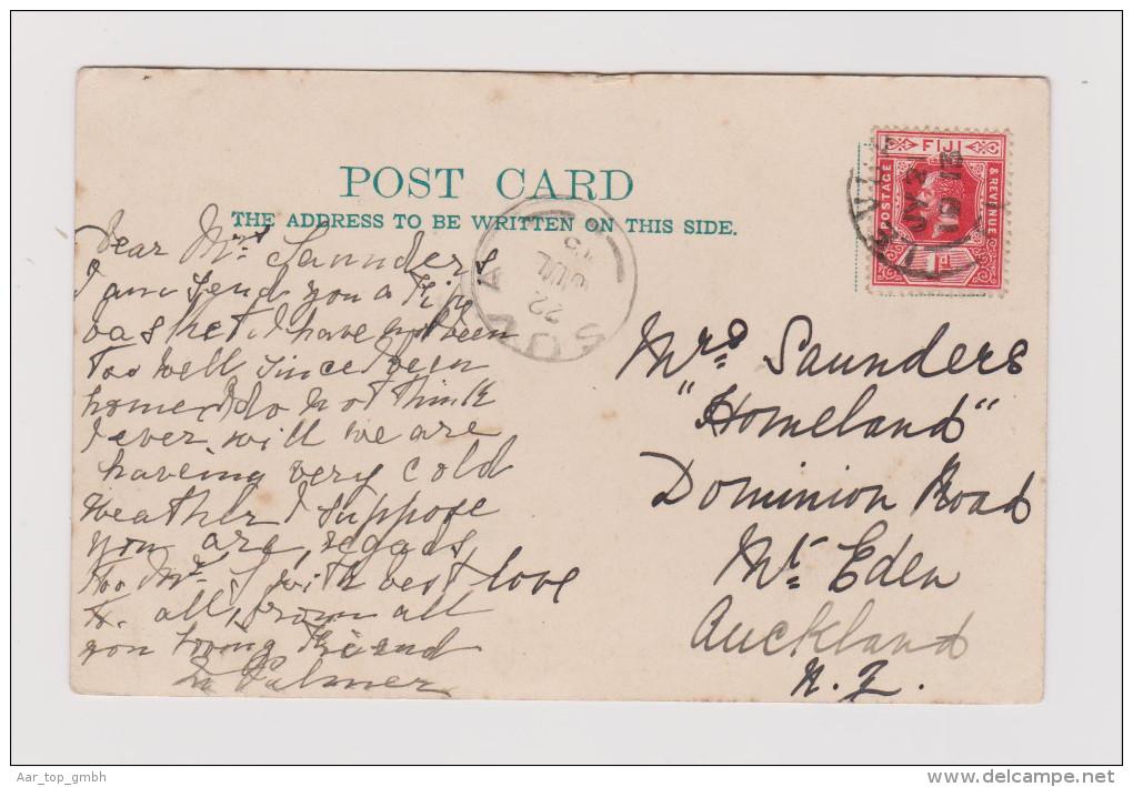 AK OZ FIJI 1913-07-21 Levuka Nach NZ Fidjean Berghaus Foto Griffiths - Figi