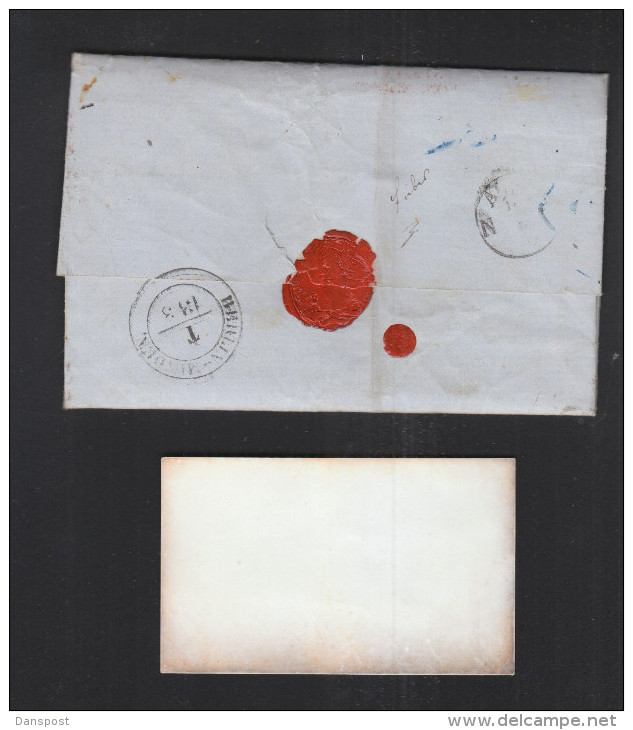 USA Letter From Hon. August Belmont I To Feist Brothers 1857 - Postal History