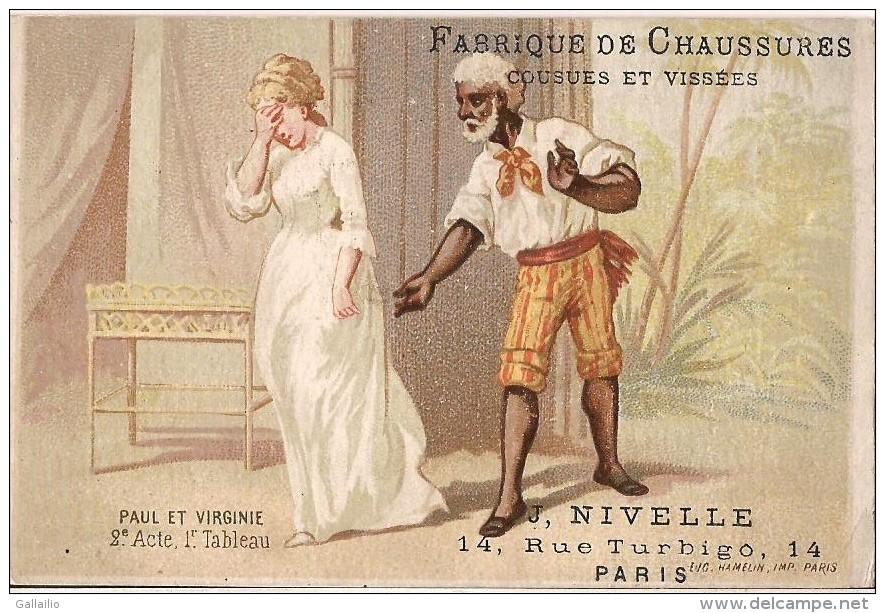 CHROMO CHAUSSURE J. NIVELLE RUE TURBIGO PAUL ET VIRGINIE ACTE 2 - Cromo
