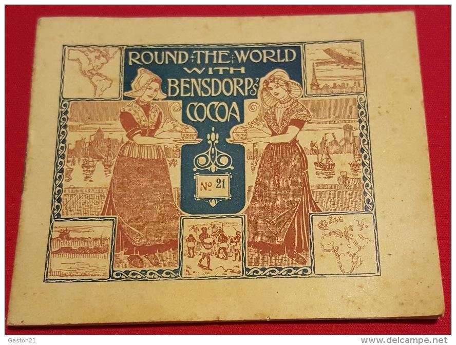 Livret Cacao Bensdorp N°21 - 16 Photos - Round The World With Bensdorp's Cacao - J.C. DALMEIJER - Publicités