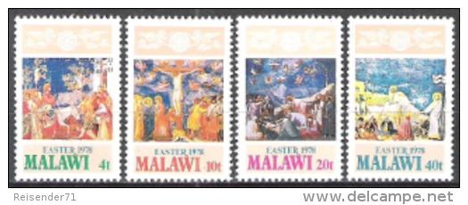 Malawi 1978 Religion Christentum Feiertage Ostern Easter Kunst Kultur Leidensweg Jesus Christus Kreuzigung, Mi. 293-6 ** - Malawi (1964-...)