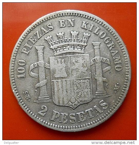 Spain 2 Pesetas 1870(70) Silver - [ 1] …-1931 : Regno