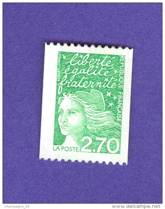 VARIÉTÉS 1997 N° 3100A N° 495 DOS ROUGE MARIANNE 14 JUILLET PHOSPHORESCENTES NEUF ** - Rollen