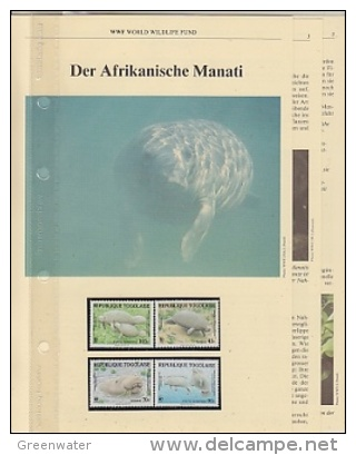 Togo 1987 WWF /  Manati  4v ** Mnh With 3 Leaflets With Information About The Issue (W553) - W.W.F.