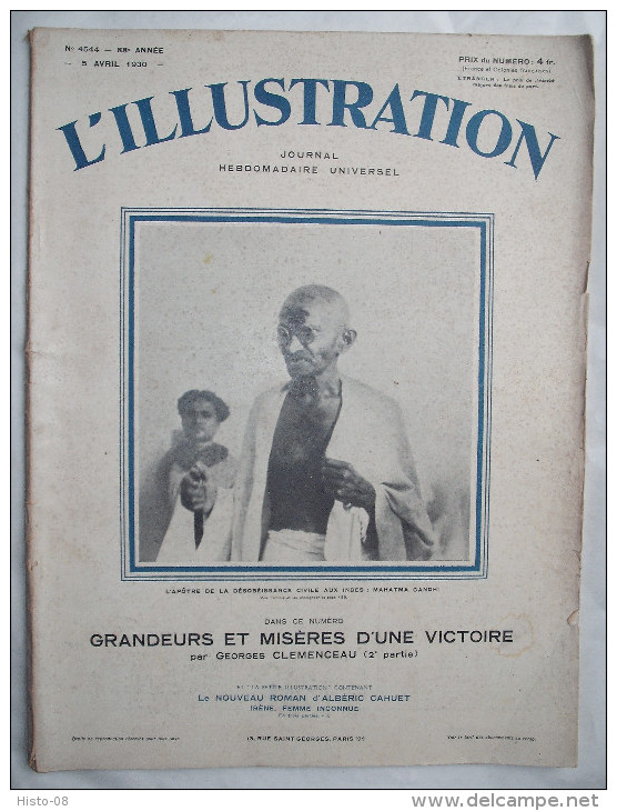 L´ILLUSTRATION:1930: GANDHI . MAROC . SAHARA . CONCOURS HIPPIQUE  .CHARENTE . PARIS . - Zeitungen