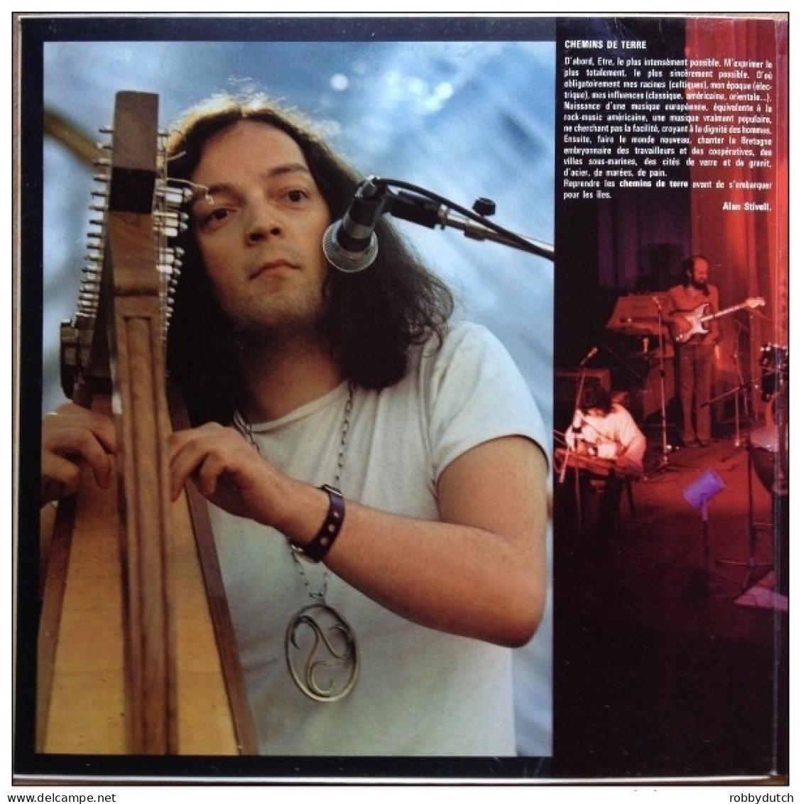 * LP *  ALAN STIVELL - CHEMINS DE TERRE (France 1973 EX-!!!) - Country En Folk