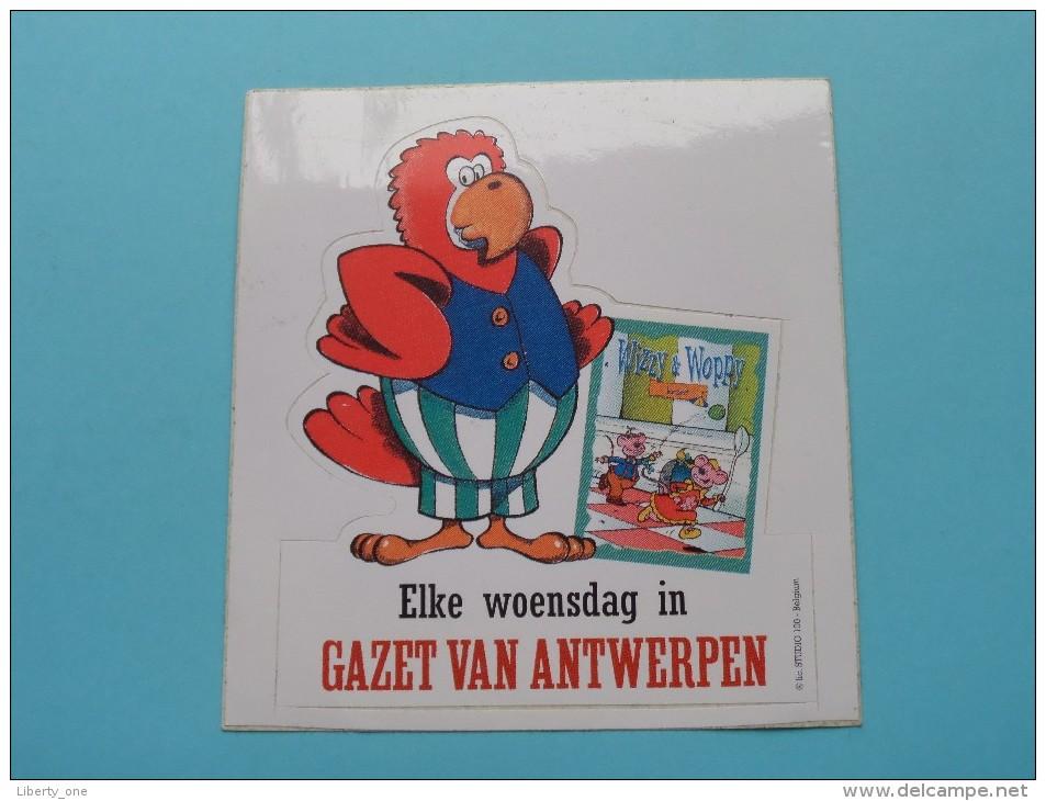 Elke Woensdag In Gazet Van ANTWERPEN ( Zie Foto Voor Détail ) Studio 100 / Zelfklever Sticker Autocollant ! - Publicidad