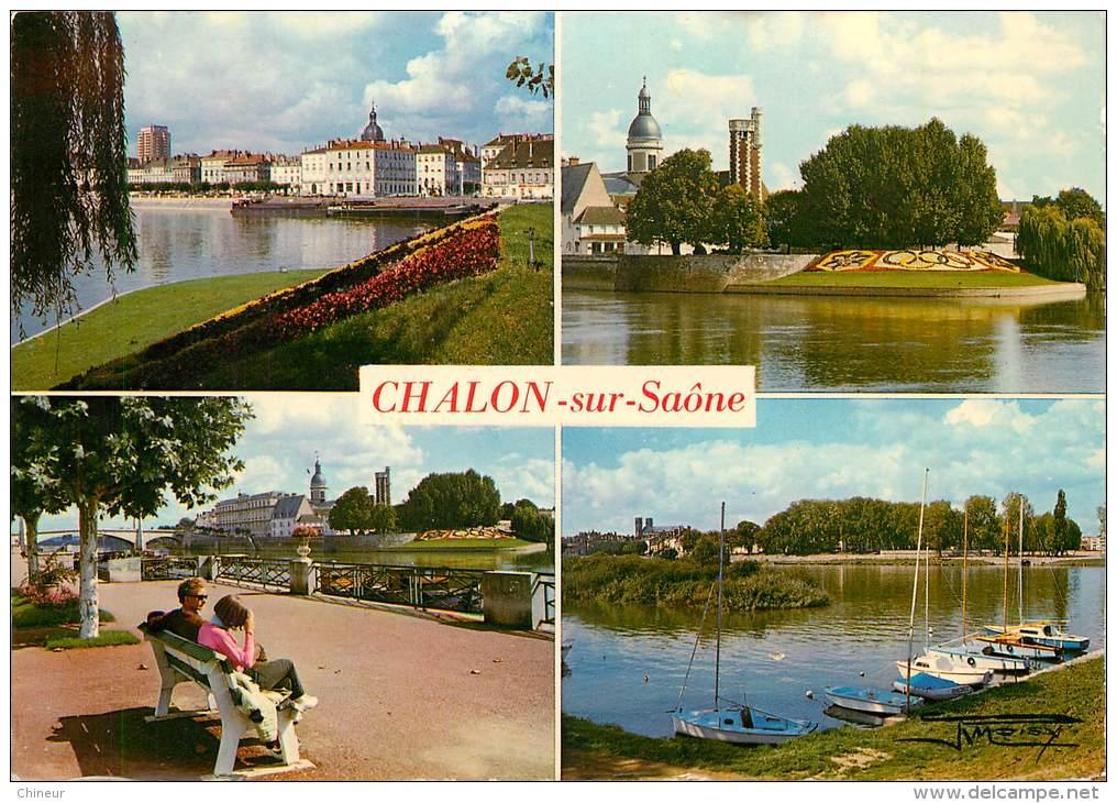 CHALON SUR SAONE  CARTE MULTIVUES - Chalon Sur Saone