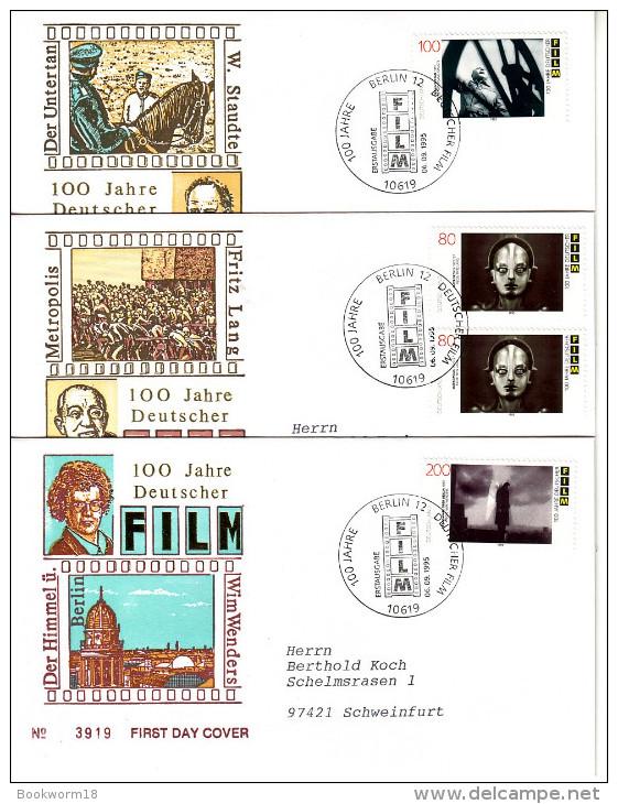 258 100 Years Of The German Film 1995 Berlin 100 Ans De Cinéma Allemand - Cinema