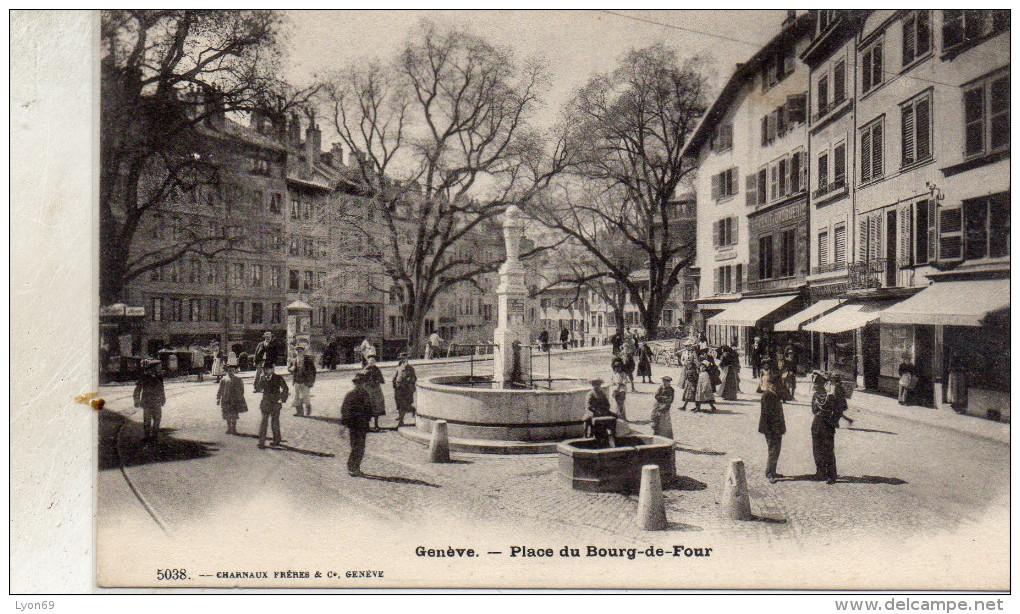 GENEVE   PLACE DU  BOURG  DE FOUR   AGE D OR - GE Ginevra
