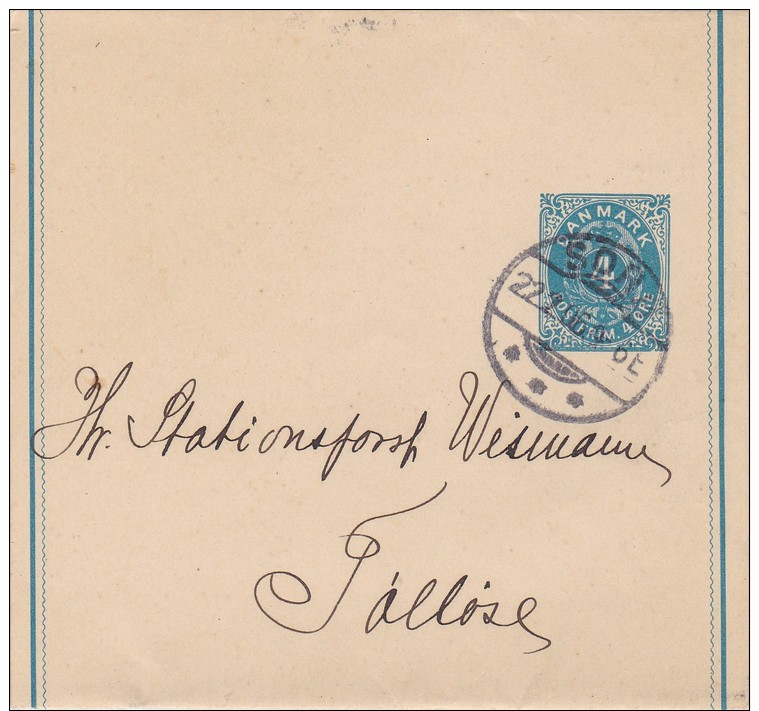 Denmark; Postal Wrapper 1906 - Enteros Postales