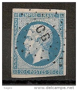 AMBULANT C B, CETTE A BORDEAUX. - 1853-1860 Napoleon III