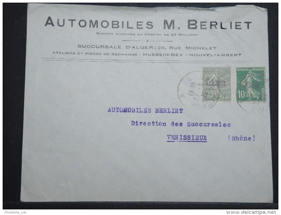 """ALGERIE - Env Commerciale """"Auto BERLIET"""" De Constantine Pour La Métropole Mars 1925 - A Voir - P 14935 - Algeria (1924-1962)"""