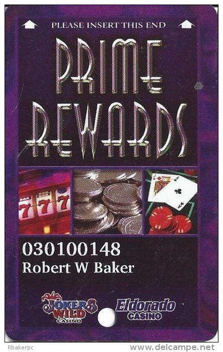 Joker´s Wild & Eldorado Casinos Henderson NV 3rd Issue Slot Card (PRINTED) - Casino Cards