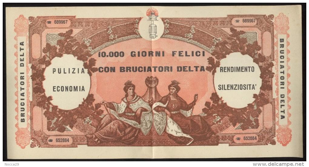 BUONO PUBBLICITARIO CARTACEO - FACSIMILE  10.000 LIRE  - NON CARTOLINA - SPLENDIDO!!! - Monete (rappresentazioni)