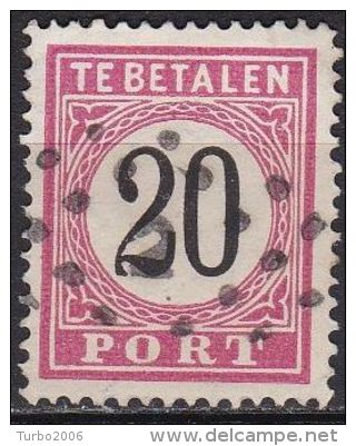 Ned. Indië: 1882-88 Portzegel Cijfer In Zwart 20 Cent Type III Kamtanding 13½ : 13¼ NVPH P 9 A III - Indes Néerlandaises