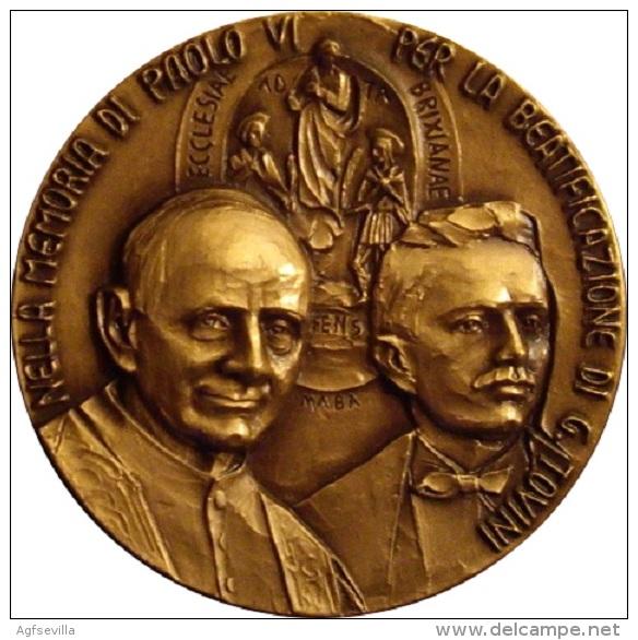 MEDALLA BEATIFICACION JOSÉ TOVINI. 1.998 - Profesionales/De Sociedad