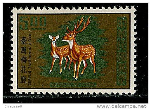 (cl.11 - P.48) Formose ** N° 766 (ref. Michel Au Dos) - Cerf Et Biche - - 1945-... Republic Of China