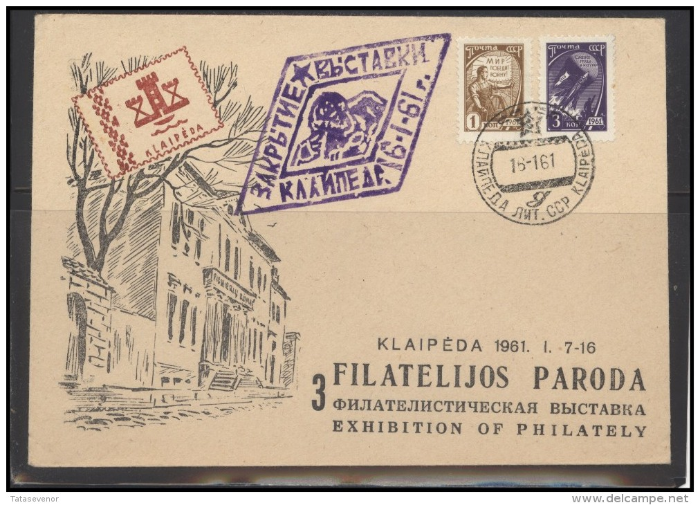 RUSSIA USSR Private Cancellation Cover LITHUANIA KLAIPEDA Klub 003 Philatelic Exhibition - 1923-1991 USSR