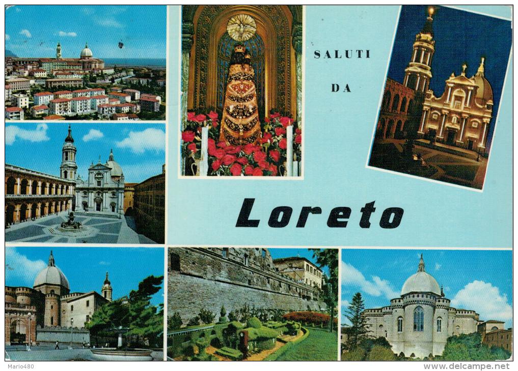 LORETO   SALUTI  DA  LORETO   (VIAGGIATA) - Altre Città