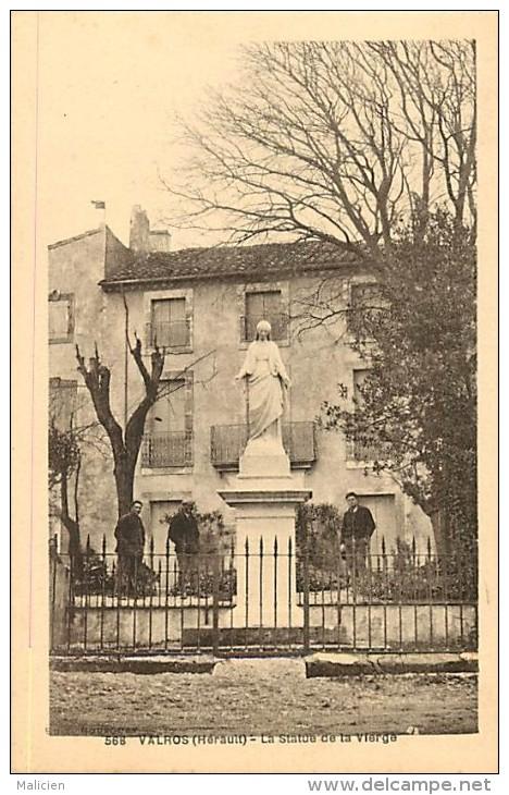 - Herault - Ref A368 -  Valros - Statue De La Vierge -  Carte Bon Etat - - France