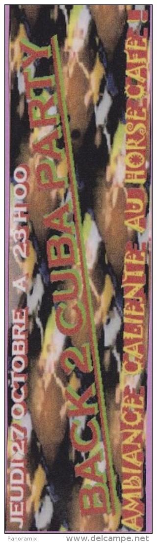 Marque-page °° Horse Café Back 2 Cuba Party - V.uni5x20 - Marque-Pages