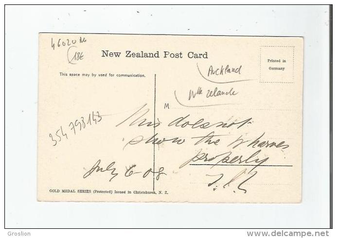 A BUSY DAY, QUEEN STREET , WHARF AUCKLAND  N Z (1556)     1908 - Nouvelle-Zélande