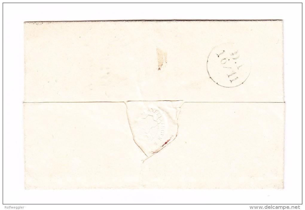 Heimat ZH ANDELFINGEN 15.11.1853 Rayon II (2) #16IIh Auf R-Brief - Attest Renggli - 1843-1852 Timbres Cantonaux Et  Fédéraux