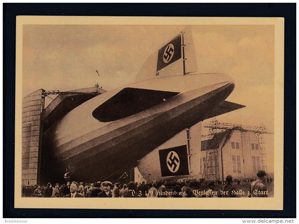 AK  LZ 129 Hindenburg : Verlassen Der Halle Zum Start - Zeppeline