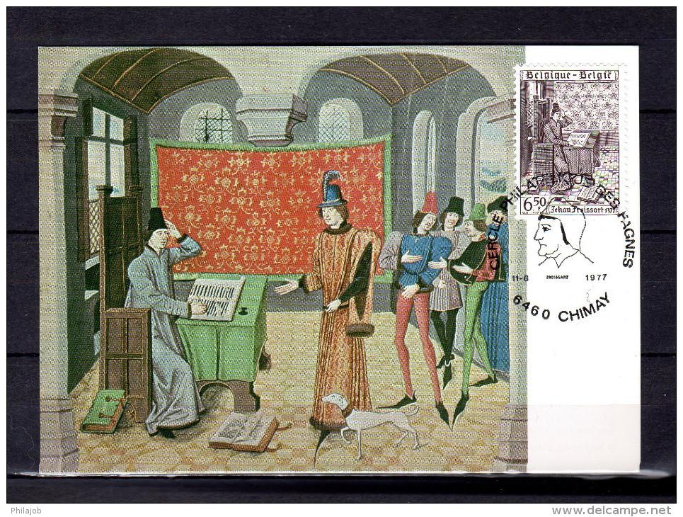 """Carte Maximum De 1977 """" JEHAN FROISSART ET SES CHRONIQUES """". N° YT 1853. Parfait état. CM - Cartes-maximum (CM)"""