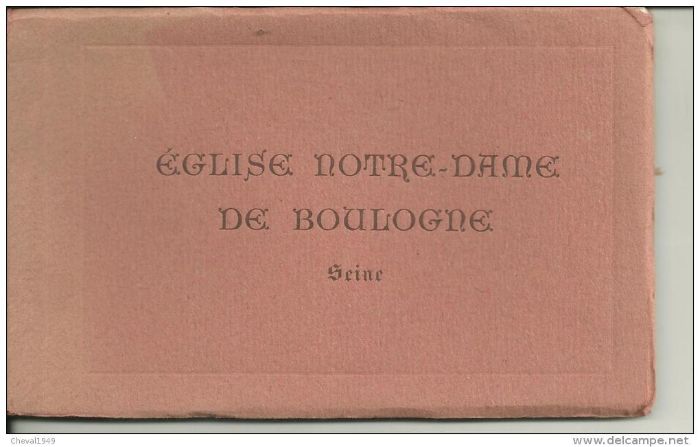 91    Carnet  De  12  Cartes Postale       Eglise Notre Dame De Boulogne - Boulogne Sur Mer