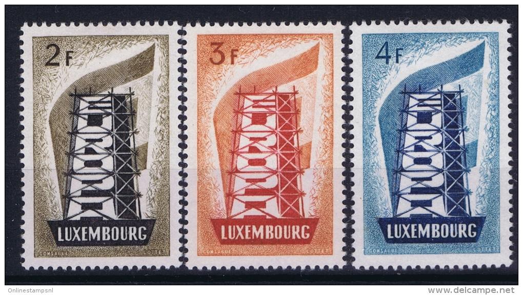 Luxembourg Cept 1956  Mi Nr 555 - 557  MH/* - Luxemburg