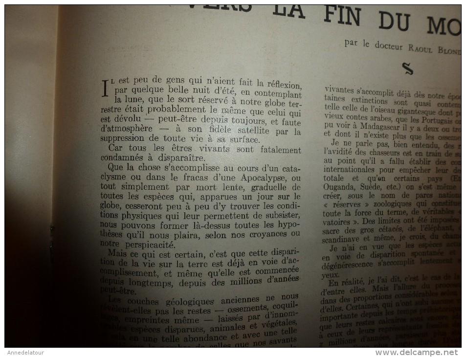 1942 Très Beau Portrait Du Maréchal FRANCHET D'ESPEREY; Les Assistantes Sociales De L'Air à Marignane; JERSEY Occupé - Journaux - Quotidiens