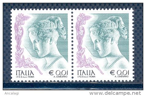 FL1815 - DONNA NELL´ARTE - Coppia Nuova Da € 0,01. V^ Emissione 2003 Con S.p.A. - 2001-10:  Nuevos