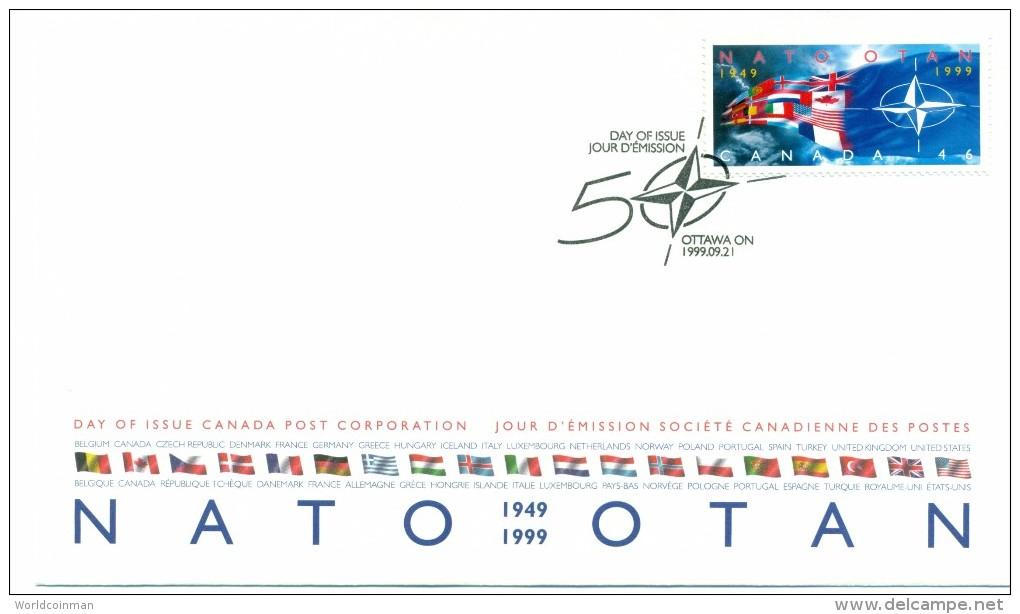 1999 Canada NATO 46c First Day Cover - 1991-2000