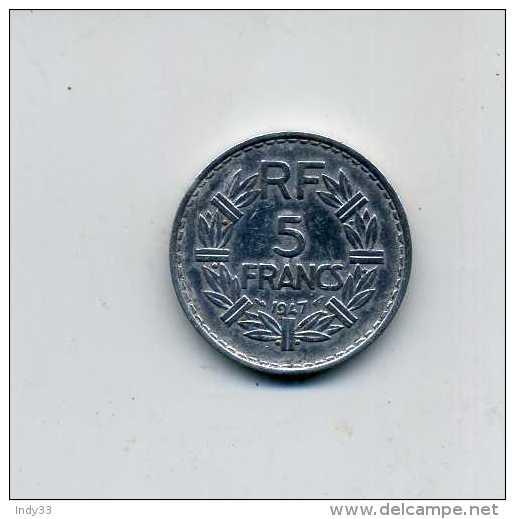 - FRANCE 1901/2001 . MONNAIE 5 F. 1947 . - J. 5 Francs