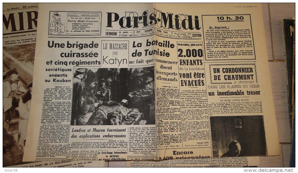 Paris Midi - 17/04/1943  -   -fac Simile N° 57 - Audio Books