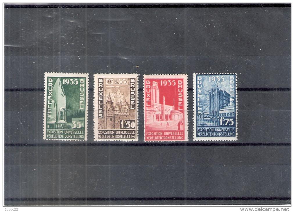 Belgique 386/89 - XX/MNH - Exposition Universelle De Bruxelles 1935 - 1935 – Brüssel (Belgien)