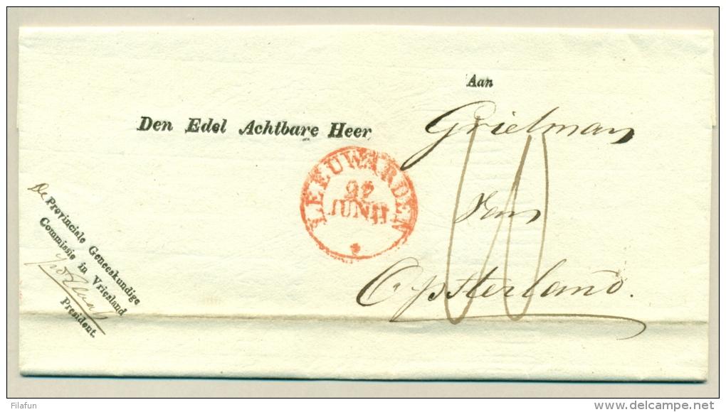 Nederland - 1831 - Leeuwarden Op Omslag Naar Opsterland - Van Prov. Geneeskundige Commissie In Vriesland - ...-1852 Voorlopers