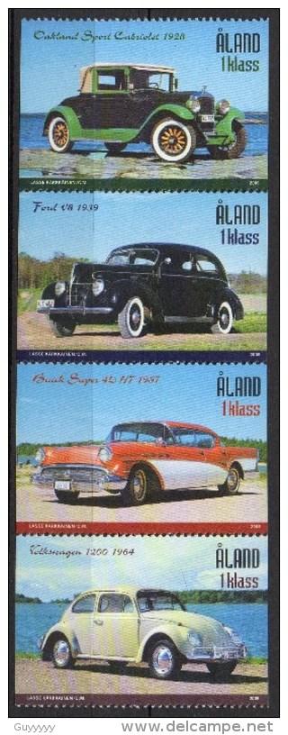 Aland - 2005 - Yvert N° 247 à 250 **  - Voitures - Aland