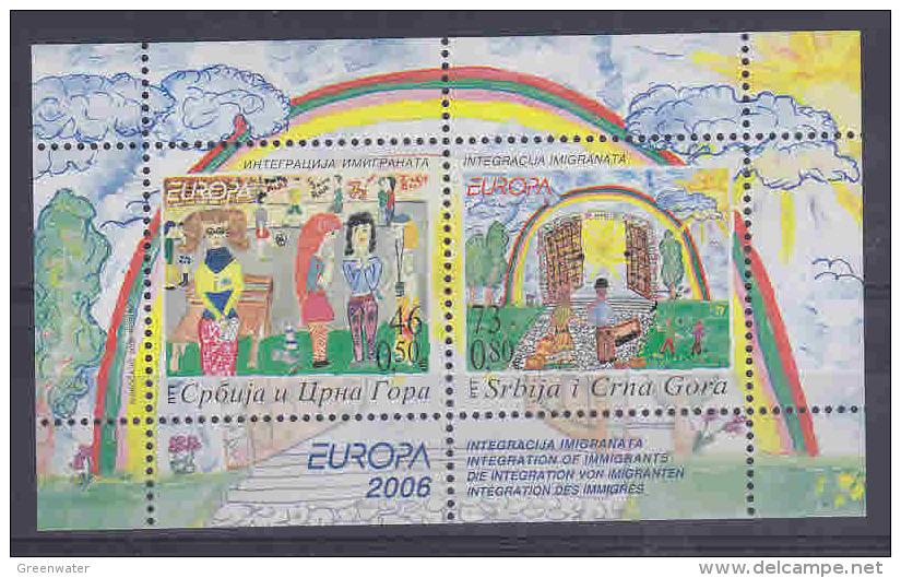 Europa Cept 2006 Serbia & Montenegro M/s ** Mnh (26913B) - 2006