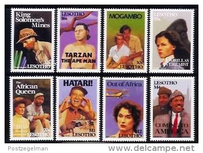 LESOTHO, 1991, Mint Never Hinged Stamp(s), Africa In Movies,   MI Nrs. 886-883, #2730 - Lesotho (1966-...)