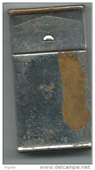 L60- ASTUCCIO PORTA LAMETTE GILLETTE IN ACCIAIO ZINCATO - Materiale Di Profumeria