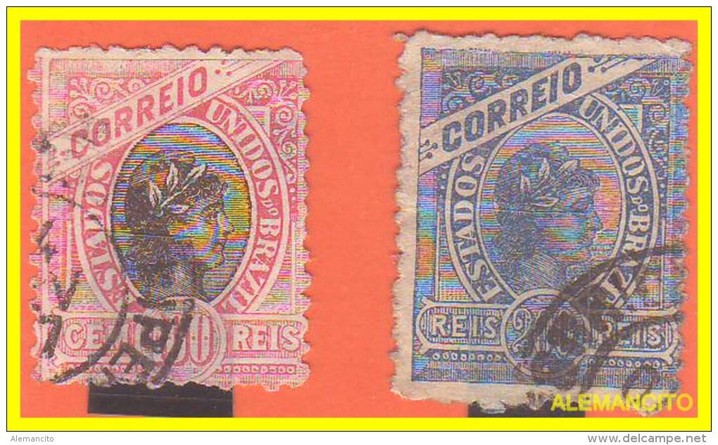 BRAZIL - 2 SELLOS  AÑO 1893 -. - Brasil
