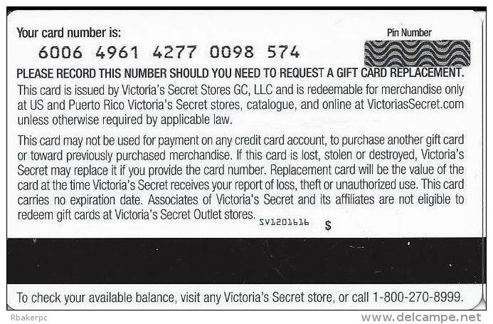 Victoria's Secret Gift Card - Gift Cards
