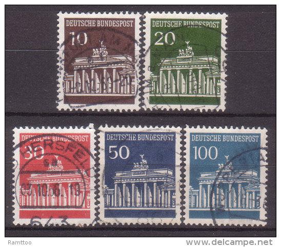 BRD , 1966 , Mi.Nr. 506 - 510 O - BRD