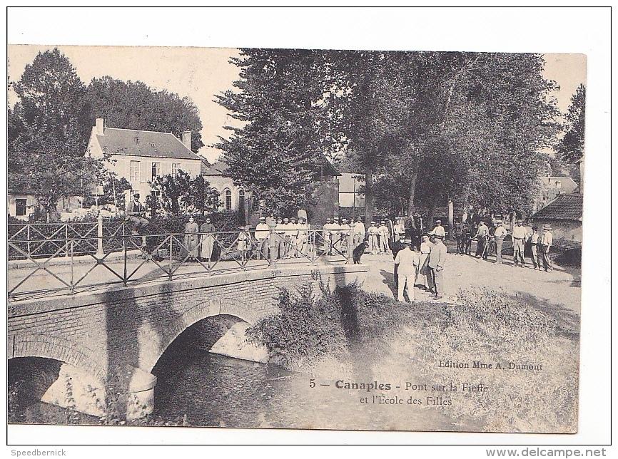 25498 Canaples 80 Le Pont Sur La Fieffe Et L'ecole Des Filles -5 Ed Mme Dumont - France