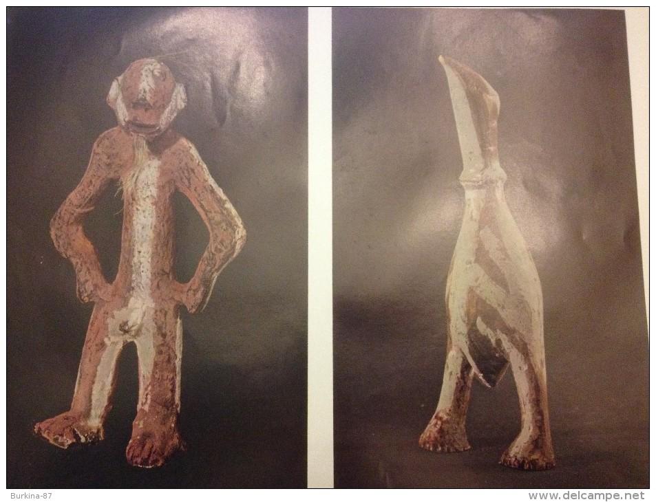Poster, 24 X 31 ,figurine D'oiseau Et Statuette En Terre Cuite , République Démocratique  Congo, Arts Premiers Africains - Old Paper