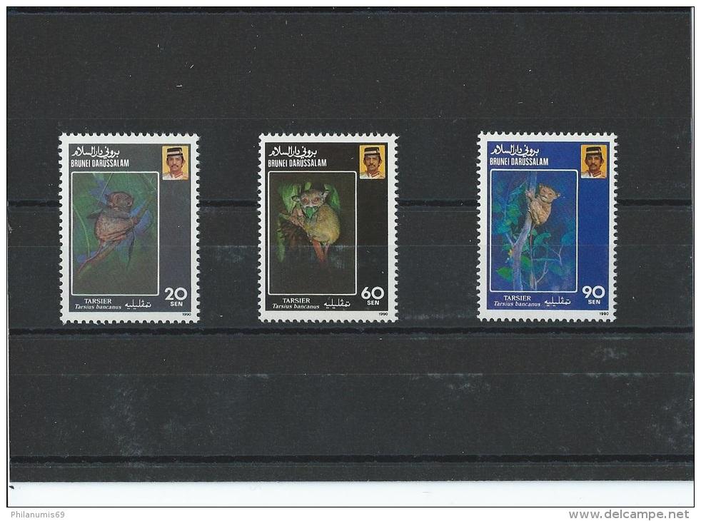 BRUNEI 1990 - YT N° 422/424 NEUF SANS CHARNIERE ** (MNH) GOMME D'ORIGINE LUXE - Brunei (1984-...)