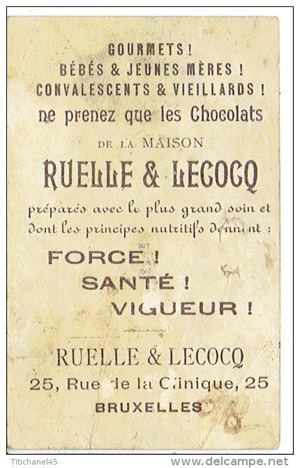 Chromo Chocolat RUELLE & LECOCQ à BRUXELLES - Château De Spontin - Chocolat